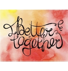 love or friendship quote phrase on vector image vector image