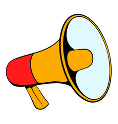 megaphone icon cartoon vector image