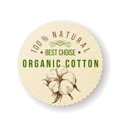 Organic cotton label vector