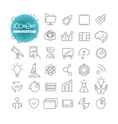 outline icon set pictogram set innovation vector image