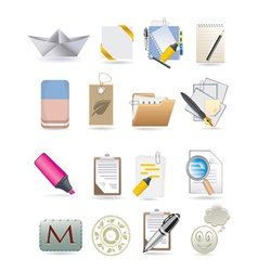 paper icons vector image