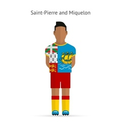 Saint-pierre and miquelon football player soccer vector