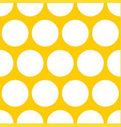 Tile pattern with white dots on yellow background vector