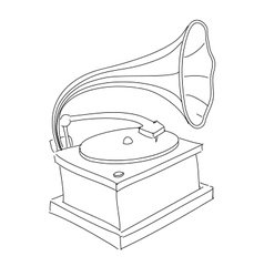 Vintage gramophone isolated on white vector image vector image
