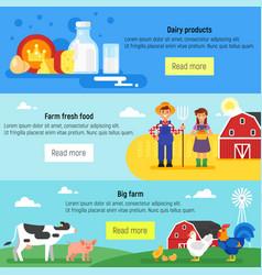 web banner farm farmers farm vector image
