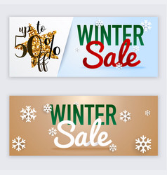 Winter sale website banners web template can be vector