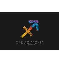 Zodiac archer Zodiac logo Color zodiac logo vector image vector image