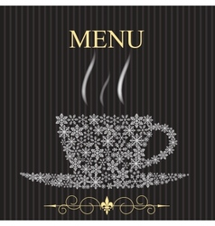 The concept of Restaurant menu on winter vector image