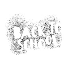 Back to school poster design Stencil letters vector image