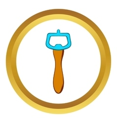 Bottle opener icon cartoon style vector