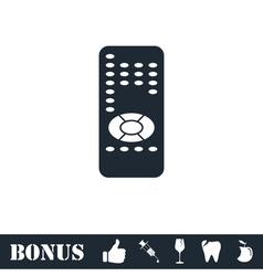 Remote control icon flat vector