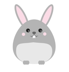 Cute kawaii rabbit bunny hare character vector
