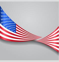 American wavy flag vector