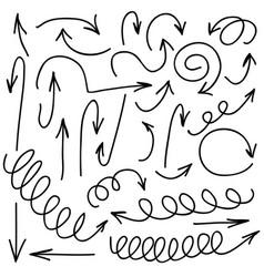 Hand written marker pen arrows of vector