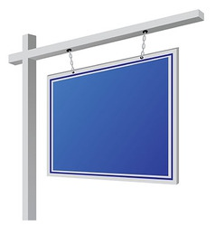 City light billboard on column with empty space vector