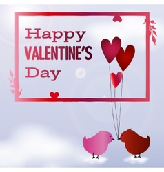 Valentine day postcard vector image