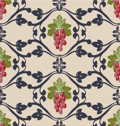 Decorative pattern with grapes vector