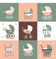 Set with prams vector