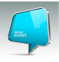Shiny gloss azure banner vector