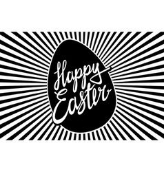 Holiday of handwritten easter retro label and vector