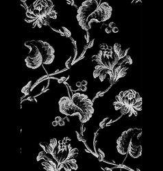 9 Abstract hand-drawn floral seamless pattern vector image