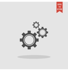 Gears icon  flat design style vector
