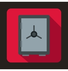 Closed safe icon in flat style vector