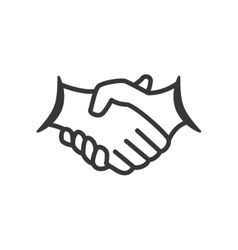 Hand shake icon Help design graphic vector image