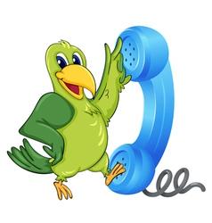 Bird with receiver vector image