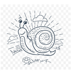 A snail black and white vector