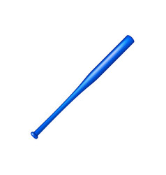 Baseball bat in blue design vector
