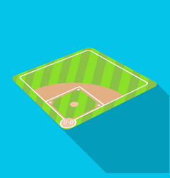Baseball court baseball single icon in flat style vector