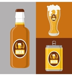 Beer concept design vector image