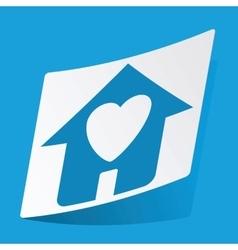 Beloved house sticker vector image