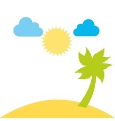 Beutiful beach day landscape design vector