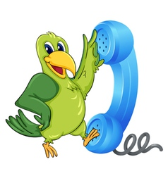 Bird with receiver vector image vector image
