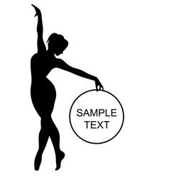 black gymnast vector image