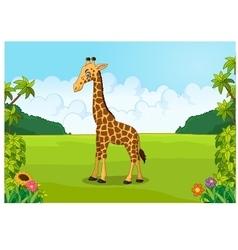 Cartoon cute giraffe posing vector image vector image