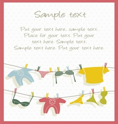 clothesline background vector image vector image