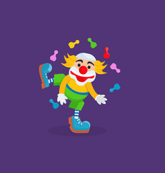 Clown entertains and amuses the audience vector