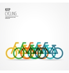 Colorful bicycle poster vector image vector image