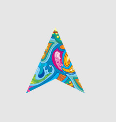 Colorful patterned mouse cursor vector