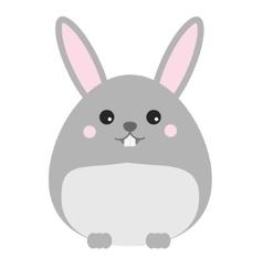 Cute kawaii rabbit bunny hare character vector