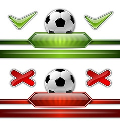 football score two colors vector image vector image