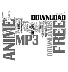 Free anime mp download text background word cloud vector