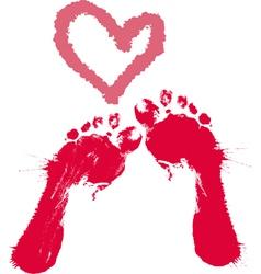 grunge footprints vector image vector image