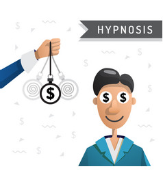 Hypnosis man money vector