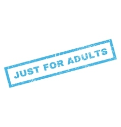 Just For Adults Rubber Stamp vector image vector image