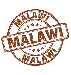 Malawi brown grunge round vintage rubber stamp vector