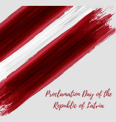 Proclamation day of the republic of latvia vector